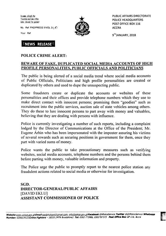 Police Crime Alert – Ghana Police Service